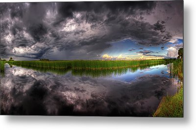 Everglades Reflection Metal Print by Nick  Shirghio