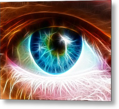 Eye Metal Print by Paul Van Scott