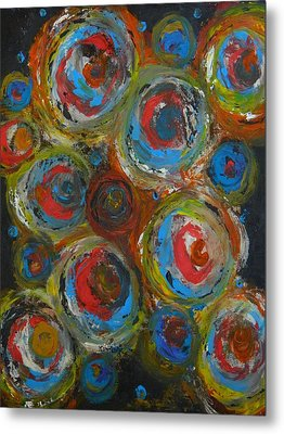 Metal Print featuring the painting Eyeball by Everette McMahan jr