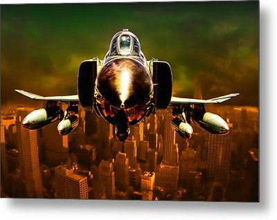F-4 Metal Print by Michael Cleere