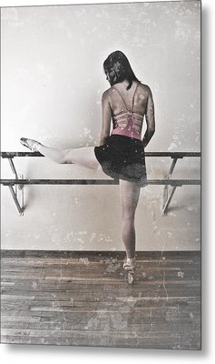 Faded Ballerina Metal Print by Scott Sawyer