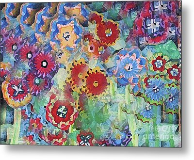 Fading Flower Power Metal Print by Marilyn West