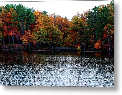 Fall Across The Lake Metal Print