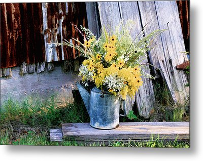 Fall Bouquet Metal Print by Mary Hershberger