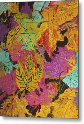 Fall Colors Of Maple Leaves Metal Print