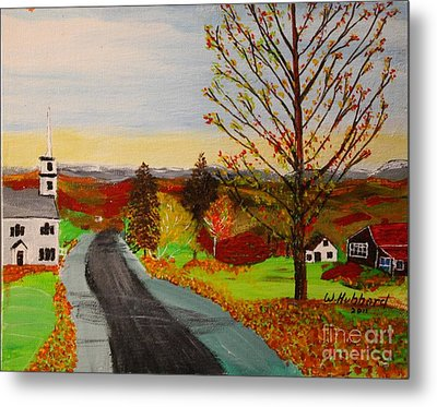 Fall In New Hampshire Metal Print