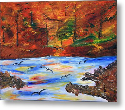 Fall On The Bow River Metal Print by James Bryron Love