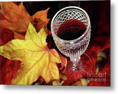 Fall Red Wine Metal Print by Carlos Caetano