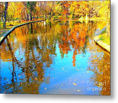 Fall Reflections Metal Print by Ana Maria Edulescu