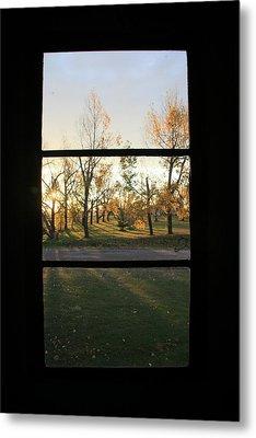 Fall Through The Window Metal Print