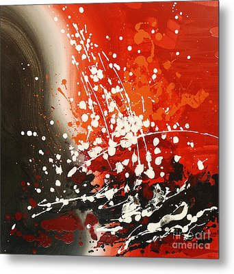 Metal Print featuring the painting Falling Water by Tatiana Iliina