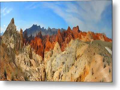 Metal Print featuring the photograph Fantasy Mountains by Gregory Scott
