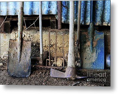 Farm Tool Metal Print by Stephen Mitchell