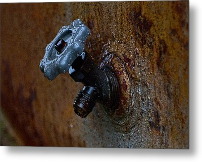 Faucet Metal Print by Wilma  Birdwell
