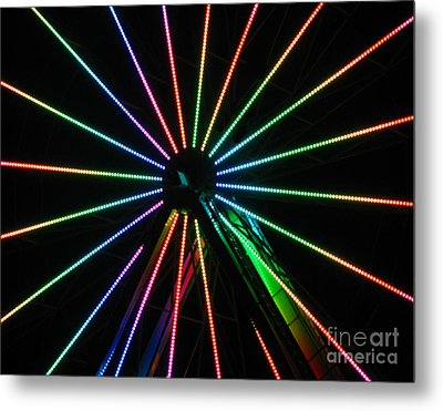 Ferris Wheel Metal Print by Peter Piatt