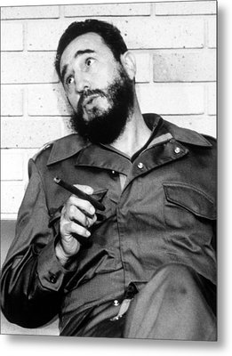 Fidel Castro, In 1974 Metal Print by Everett