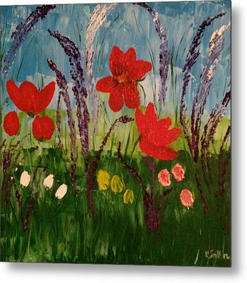 Field Of Flowers  Metal Print by Pretchill Smith