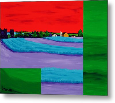 Fields Of Green Metal Print by Randall Weidner