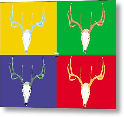 Filtered Deer Metal Print by John Mathias