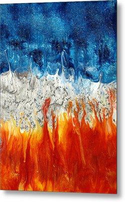 Fire And Ice Metal Print by Paul Tokarski