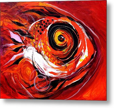 Fire Fish V Metal Print by J Vincent Scarpace