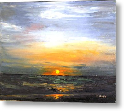 Fire In The Sky Metal Print by Annie St Martin