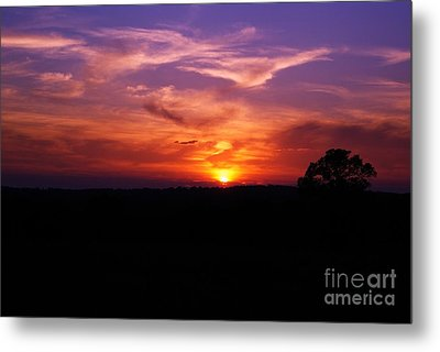 Metal Print featuring the photograph Fire Through The Storm by Julie Clements