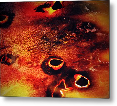 Fire Wall Metal Print