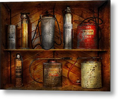 Fireman - Fire Control Metal Print by Mike Savad
