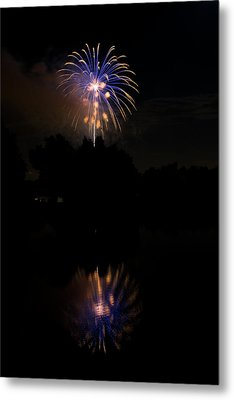 Fireworks Reflection Metal Print by James BO  Insogna