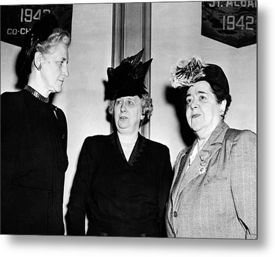First Lady Bess Truman Attending Metal Print by Everett