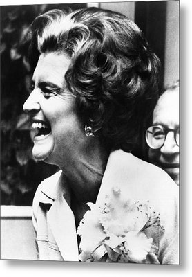 First Lady Betty Ford�s Campaigning Metal Print by Everett