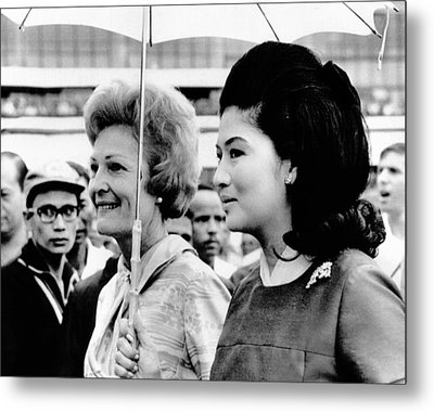 First Lady Pat Nixon Left And Imelda Metal Print by Everett