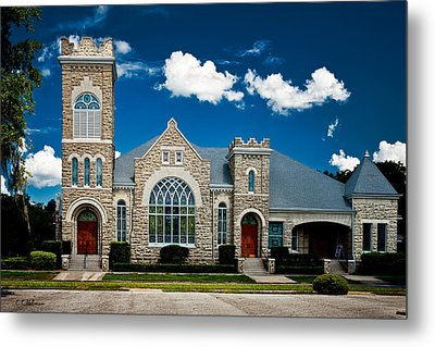 First Presbyterian Church Of Eustis Metal Print by Christopher Holmes