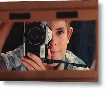 First Self-portrait Metal Print by David Paul Murray