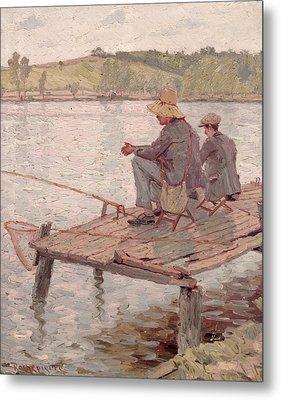 Fishermen Metal Print by Pierre Roche