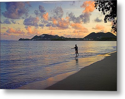 Metal Print featuring the photograph Fishing At Dawn- St Lucia by Chester Williams