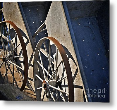 Metal Print featuring the photograph Fishing Cart II by Sherry Davis