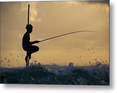 Fishing Metal Print by Ng Hock How