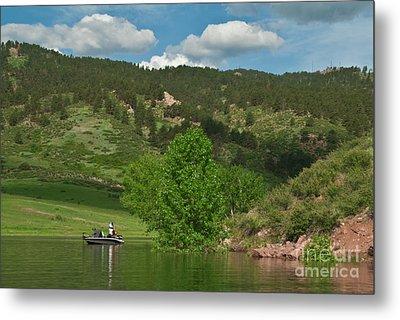 Fishing On Horsetooth Reservoir Metal Print by Harry Strharsky
