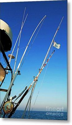 Fishing Rods Metal Print by Sami Sarkis