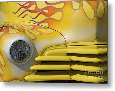 Flame Mobile Metal Print by Sherry Davis