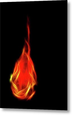 Flaming Tear Metal Print