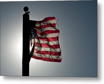 Flappin Old Glory Metal Print by Keith Sanders