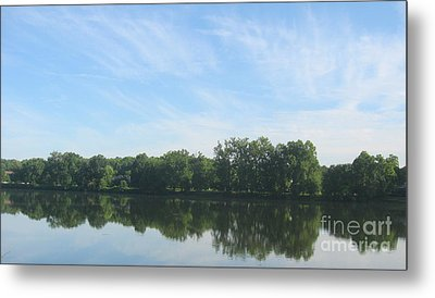Metal Print featuring the photograph Flat Water by Nancy Dole McGuigan