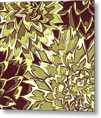 Floral Abstraction 19 Metal Print by Sumit Mehndiratta