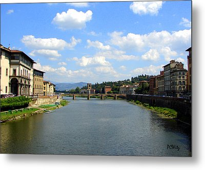 Metal Print featuring the photograph Florence Arno River by Patrick Witz