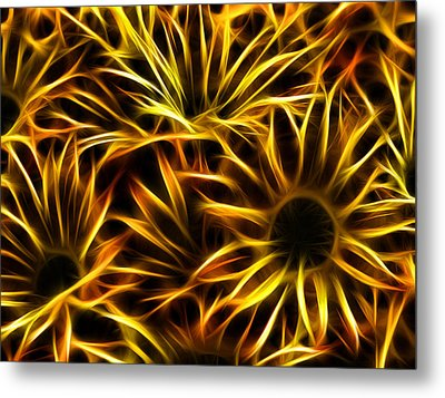 Metal Print featuring the photograph Flowers Of Flames by Joetta West