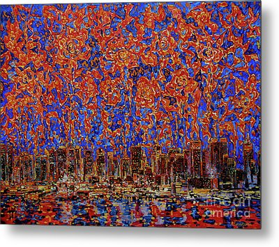 Flowers Over The City. New York Metal Print by Andrey Soldatenko