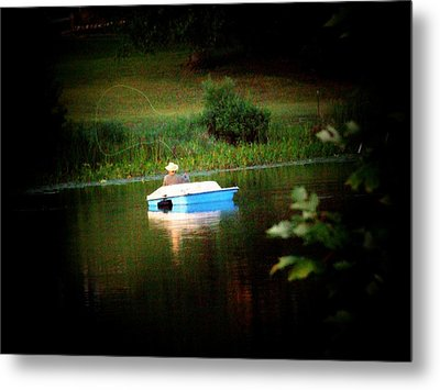 Fly Fishing Metal Print by Michael L Kimble